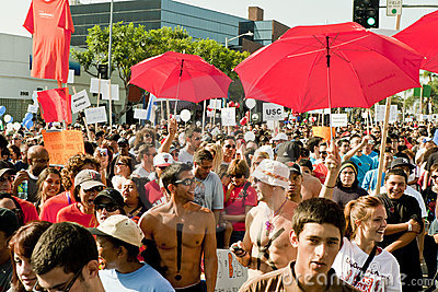 Thousands March In West Hollywood For APLA Editorial Image