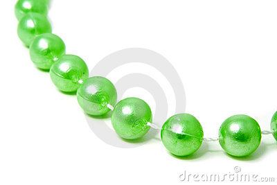 Thread with green beads