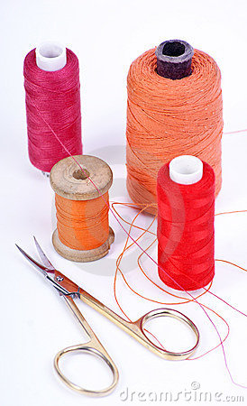 Thread and scissors
