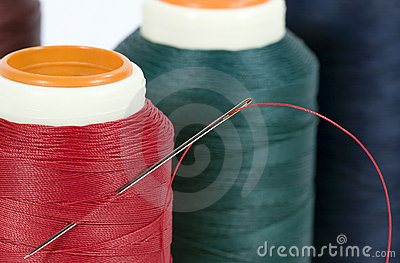 Thread Spools with Needle