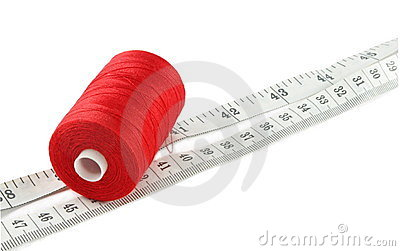 Threads with meter Stock Photo