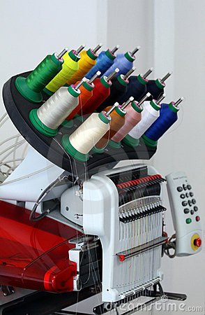 Free Threads On A Machine Royalty Free Stock Image - 14123316