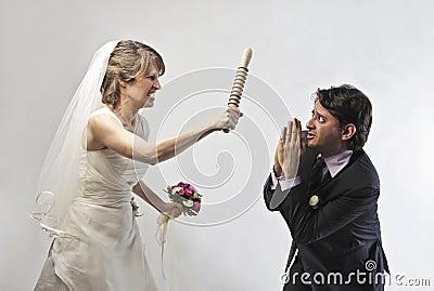 Threatening bride