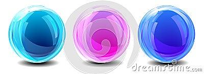 Three Abstract Globes