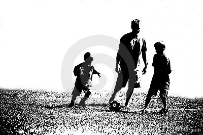Three Abstract Soccer Players