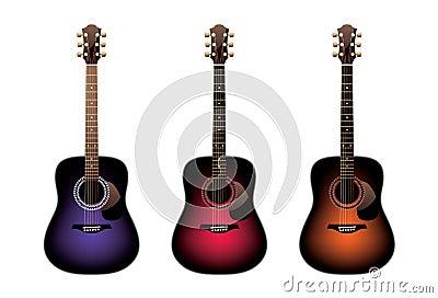 Three acoustic guitars