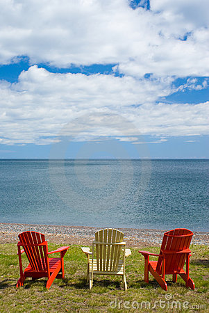 Three Adirondack Chair