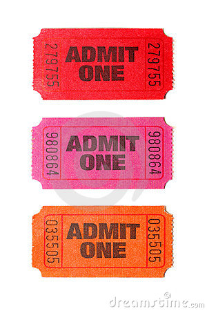 Three Admit One tickets