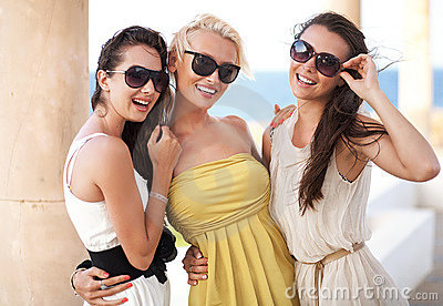 Three adorable women