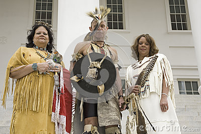 Three American Indians Editorial Stock Image