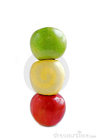 Free Three Apples Stock Image - 608701