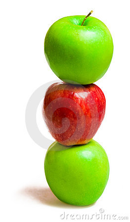 Free Three Apples Stock Photography - 8536392