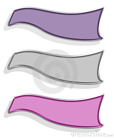 Three Banners Royalty Free Stock Image - Image: 5313166