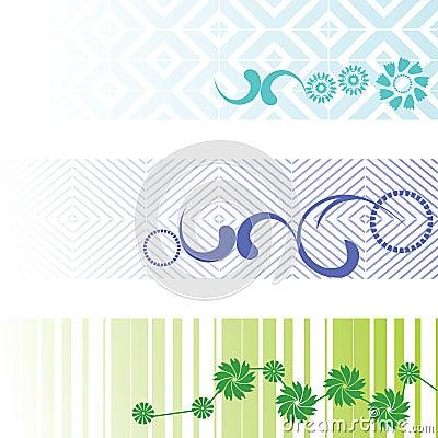 Three banners - vector set