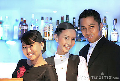 Three bar staff