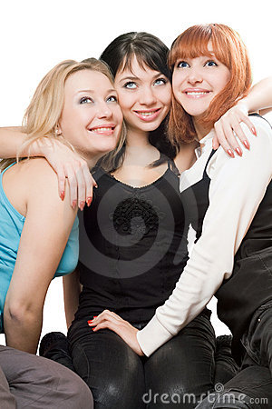 Free Three Beautiful Young Women Stock Photography - 15100452