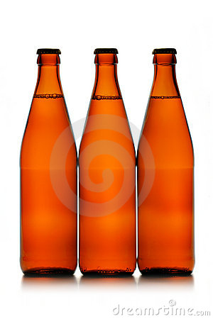 Free Three Beer Bottles In A Row Royalty Free Stock Image - 2321036