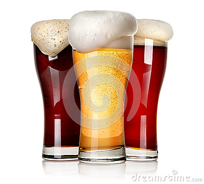 Free Three Beers Stock Photography - 52600482