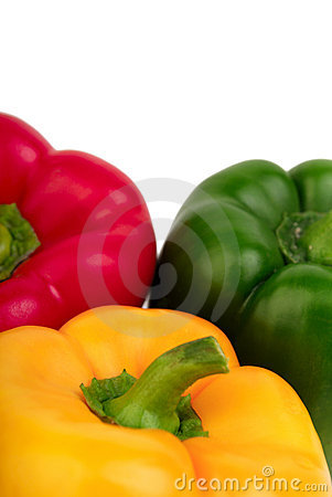 Free Three Bell Peppers - Red, Yellow And Green Royalty Free Stock Photo - 6397995