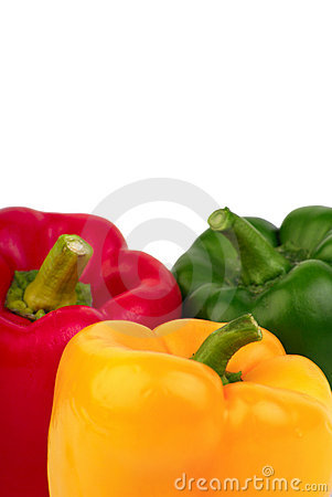 Free Three Bell Peppers - Red, Yellow And Green Royalty Free Stock Image - 6397996
