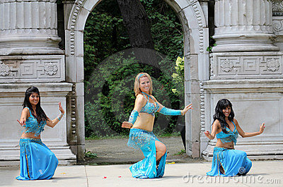 Three Belly Dancers Editorial Stock Image