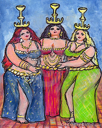 Three Belly Dancers