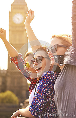 Free Three Best Girlfriends In London Stock Image - 58882201