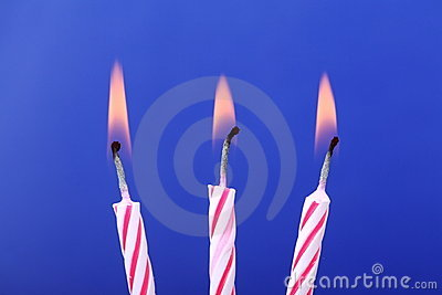Three Birthday Candles