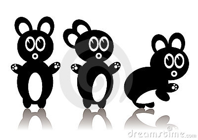 Three Black Rabbits