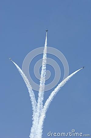 Three Blue Angels jets