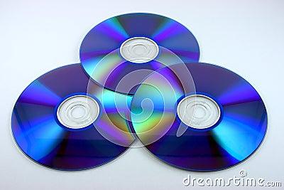 Three blue DVDs