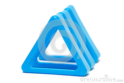 Three colored triangle