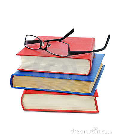 Free Three Book With Glasses Stock Photos - 7649863