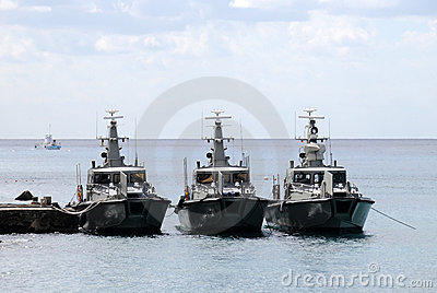 Three border patrol boats