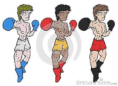 Three boxers