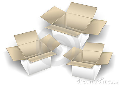 Three boxes