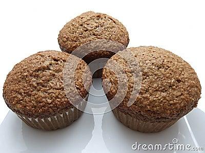 Three bran muffins