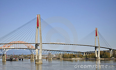 Three bridges across Fraser River