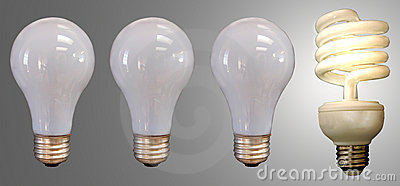 Three Bulbs and a Fluorescent