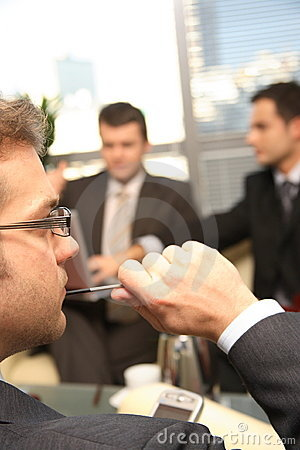 Free Three Business Men Working In The Office Stock Photography - 1829362