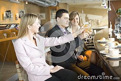 Three of Business People Making Toast