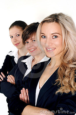 Three business women standing