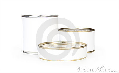 Three canned food