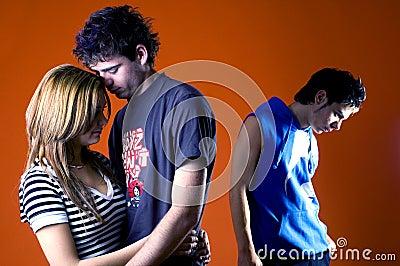 Three Casual Teens
