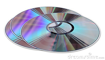 Three CD / DVD Disks Isolated On White Stock Photography - Image: 17176112
