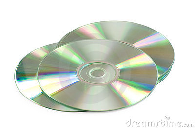 Three CD s isolated