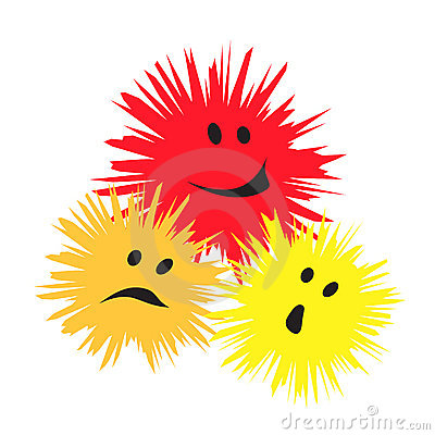 Free Three Cheerful Monsters Royalty Free Stock Photos - 8994518