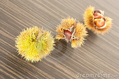 Three chestnuts.