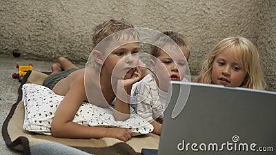 Three children computer