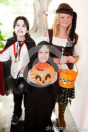 Three Children - Trick or Treat